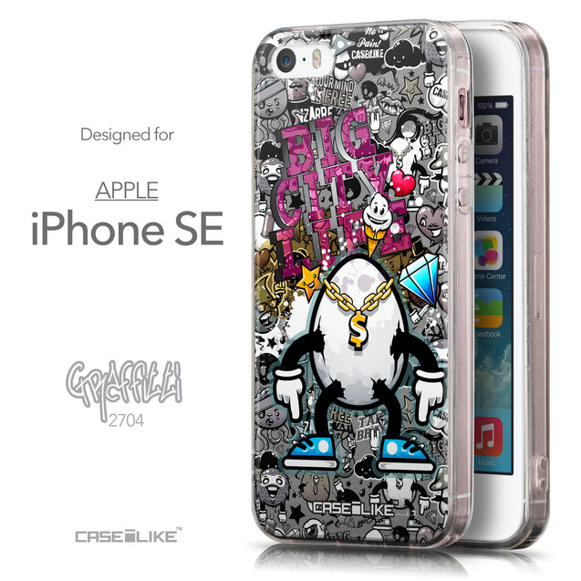 Front & Side View - CASEiLIKE Apple iPhone SE back cover Graffiti 2704