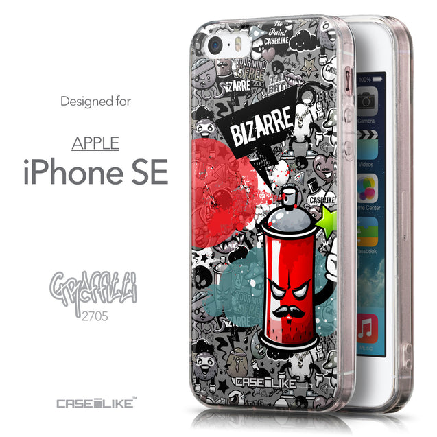 Front & Side View - CASEiLIKE Apple iPhone SE back cover Graffiti 2705