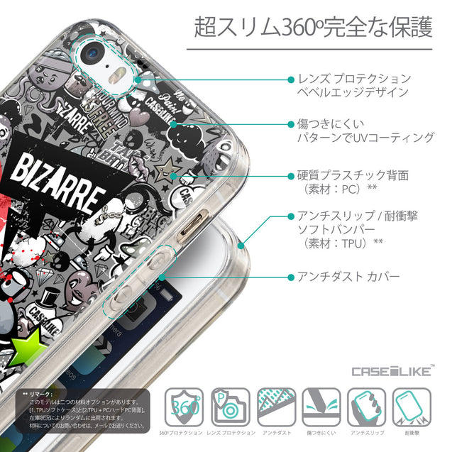 Details in Japanese - CASEiLIKE Apple iPhone SE back cover Graffiti 2705