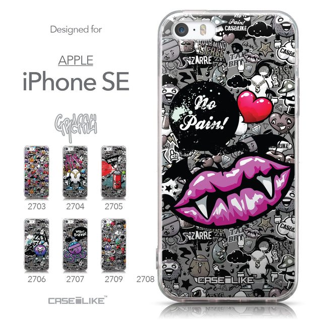 Collection - CASEiLIKE Apple iPhone SE back cover Graffiti 2708