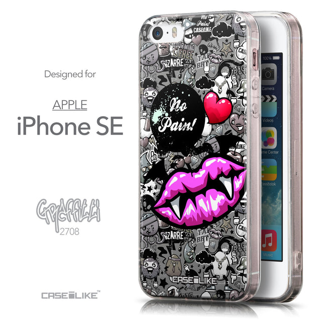 Front & Side View - CASEiLIKE Apple iPhone SE back cover Graffiti 2708