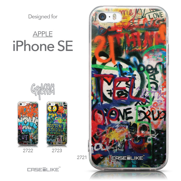 Collection - CASEiLIKE Apple iPhone SE back cover Graffiti 2721
