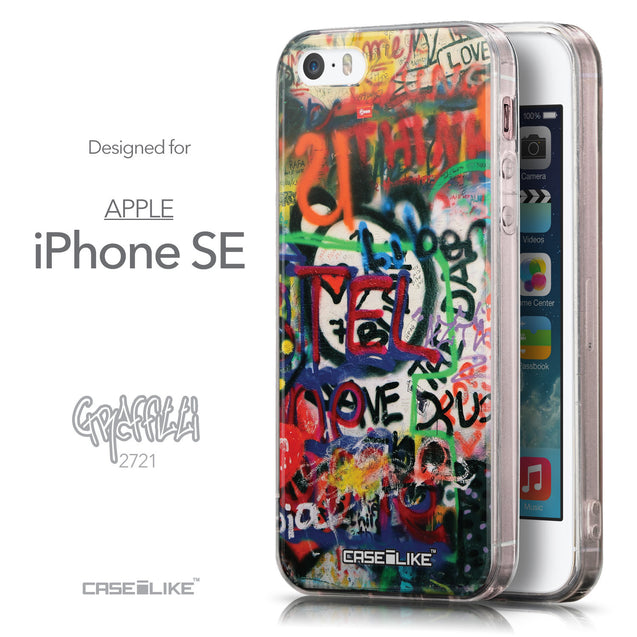 Front & Side View - CASEiLIKE Apple iPhone SE back cover Graffiti 2721