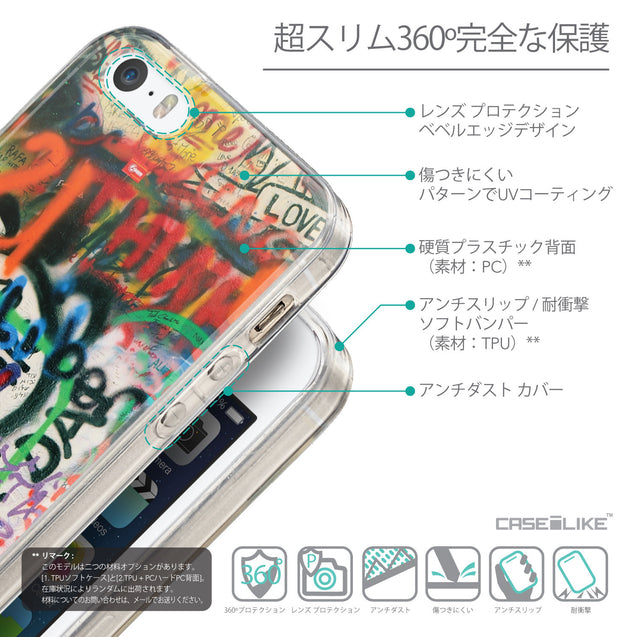Details in Japanese - CASEiLIKE Apple iPhone SE back cover Graffiti 2721