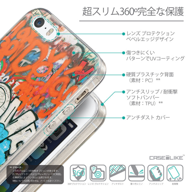 Details in Japanese - CASEiLIKE Apple iPhone SE back cover Graffiti 2722