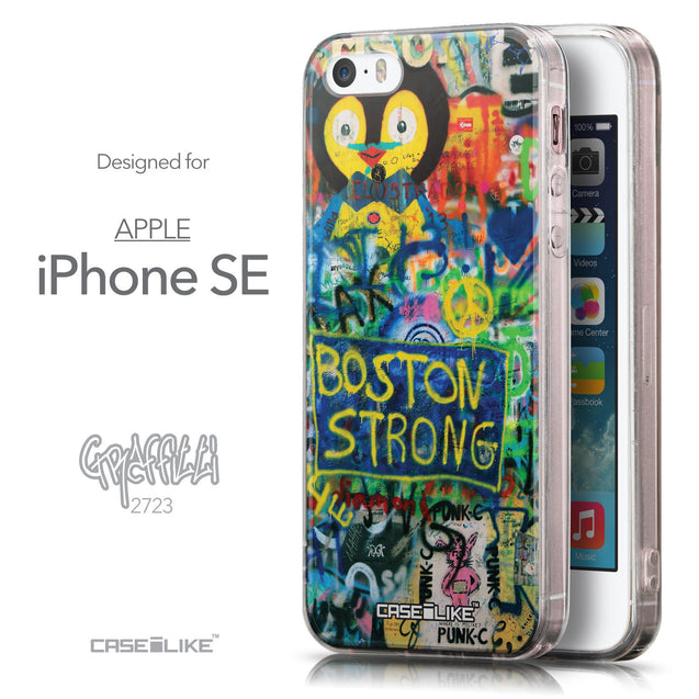Front & Side View - CASEiLIKE Apple iPhone SE back cover Graffiti 2723