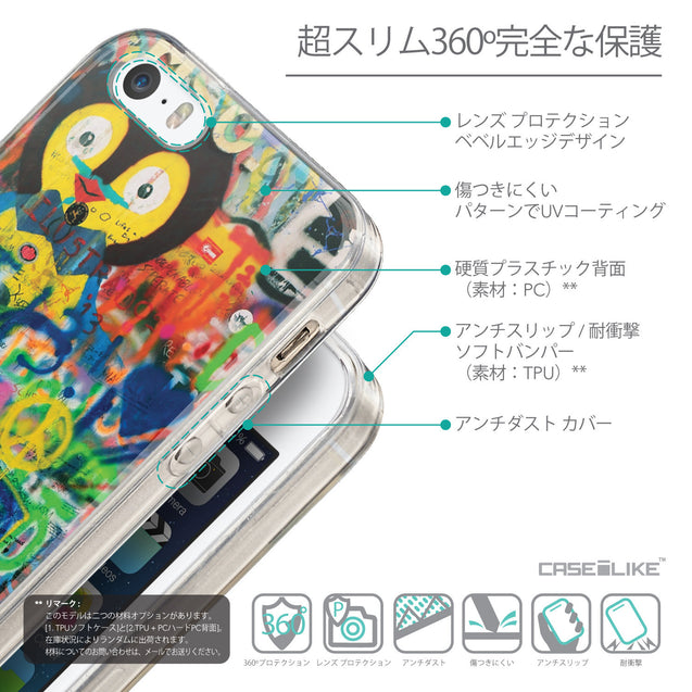 Details in Japanese - CASEiLIKE Apple iPhone SE back cover Graffiti 2723