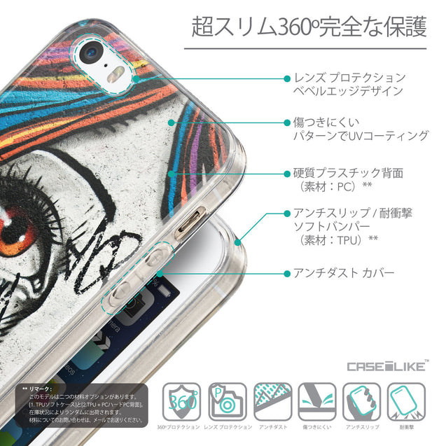 Details in Japanese - CASEiLIKE Apple iPhone SE back cover Graffiti Girl 2724