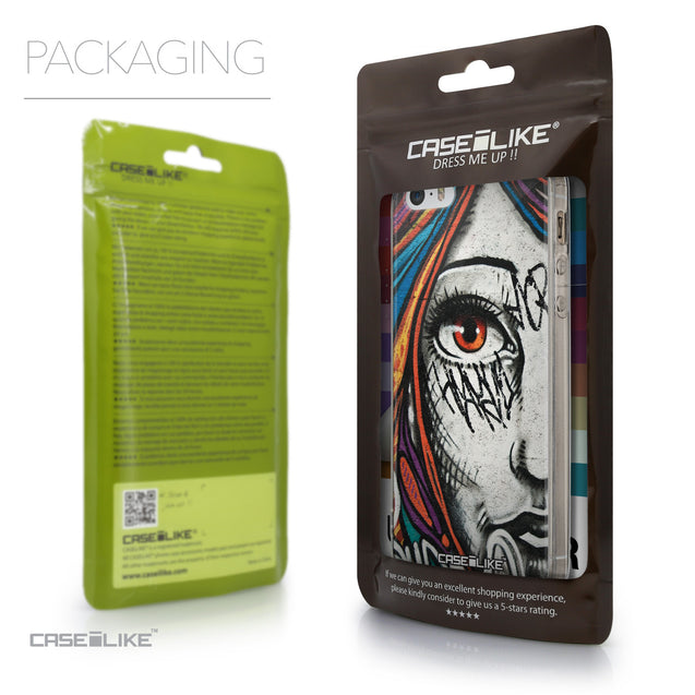 Packaging - CASEiLIKE Apple iPhone SE back cover Graffiti Girl 2724