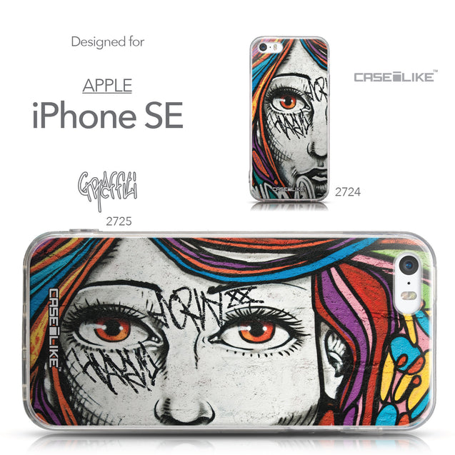 Collection - CASEiLIKE Apple iPhone SE back cover Graffiti Girl 2725