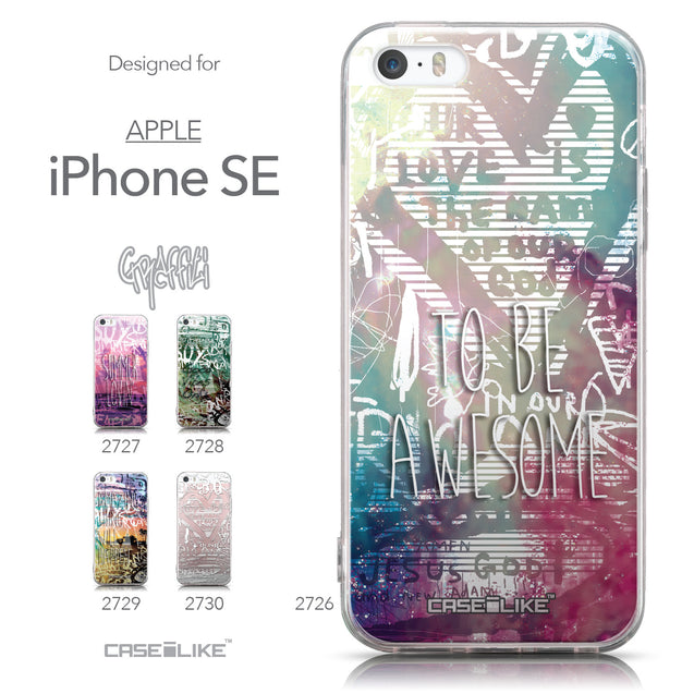Collection - CASEiLIKE Apple iPhone SE back cover Graffiti 2726
