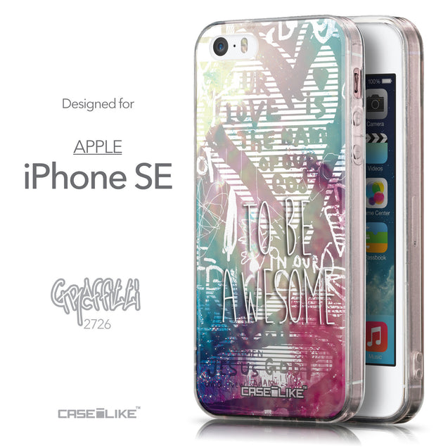 Front & Side View - CASEiLIKE Apple iPhone SE back cover Graffiti 2726