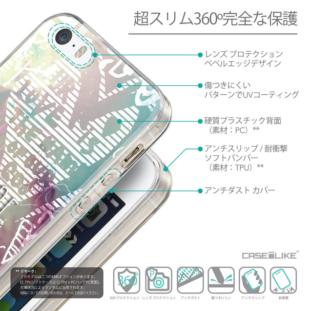 Details in Japanese - CASEiLIKE Apple iPhone SE back cover Graffiti 2726