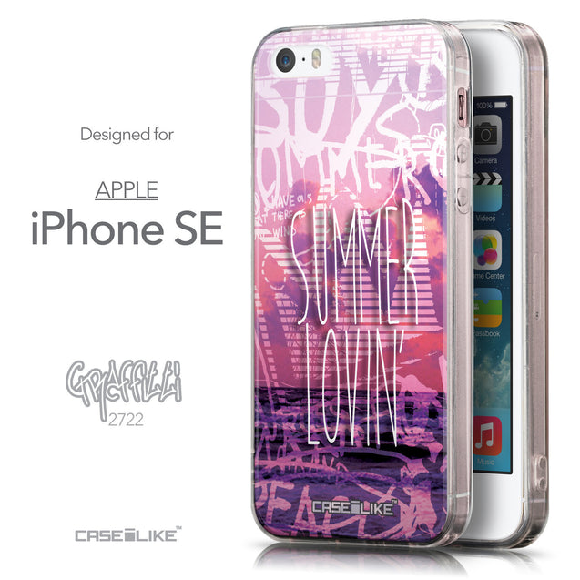 Front & Side View - CASEiLIKE Apple iPhone SE back cover Graffiti 2727