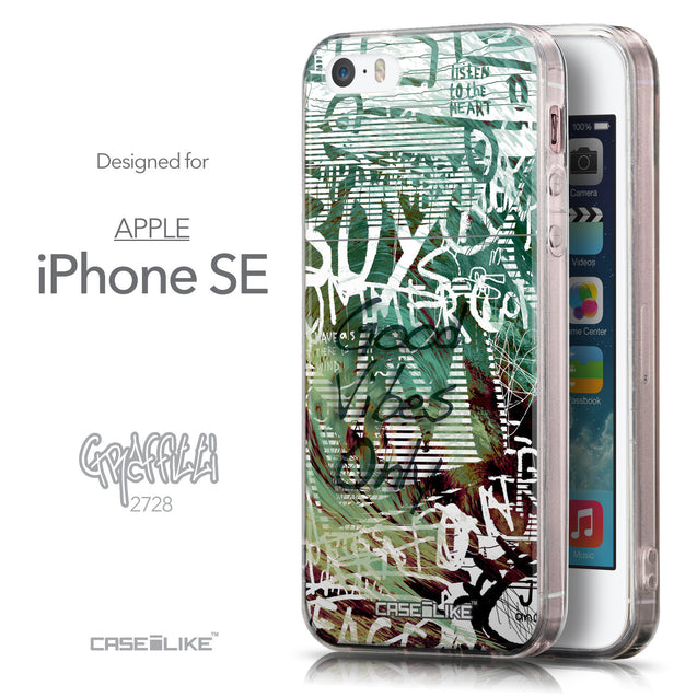 Front & Side View - CASEiLIKE Apple iPhone SE back cover Graffiti 2728