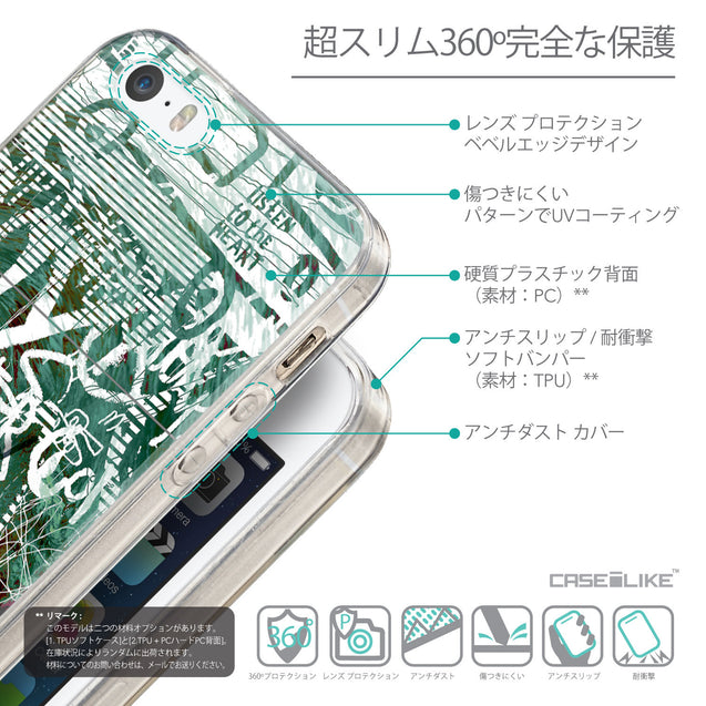 Details in Japanese - CASEiLIKE Apple iPhone SE back cover Graffiti 2728