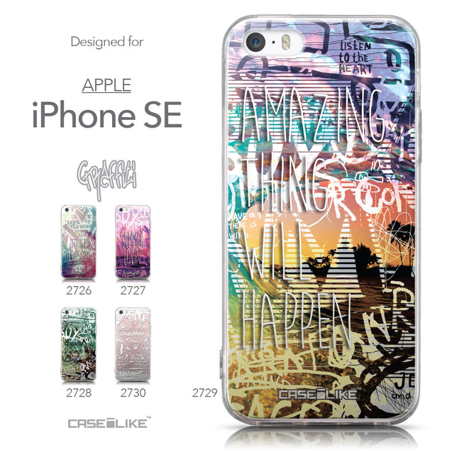 Collection - CASEiLIKE Apple iPhone SE back cover Graffiti 2729