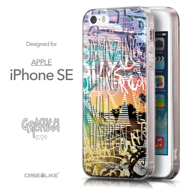 Front & Side View - CASEiLIKE Apple iPhone SE back cover Graffiti 2729