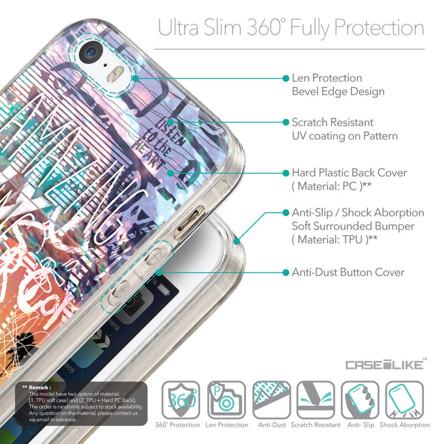 Details in English - CASEiLIKE Apple iPhone SE back cover Graffiti 2729