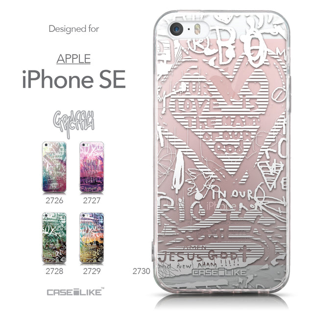 Collection - CASEiLIKE Apple iPhone SE back cover Graffiti 2730