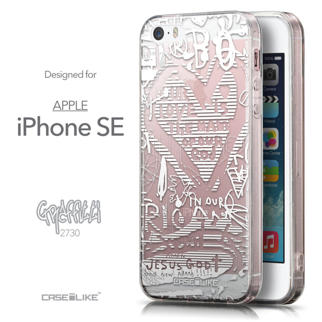 Front & Side View - CASEiLIKE Apple iPhone SE back cover Graffiti 2730