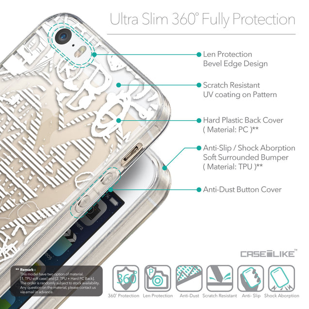 Details in English - CASEiLIKE Apple iPhone SE back cover Graffiti 2730