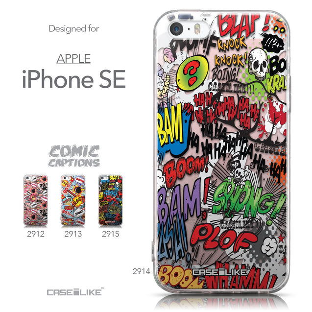 Collection - CASEiLIKE Apple iPhone SE back cover Comic Captions 2914