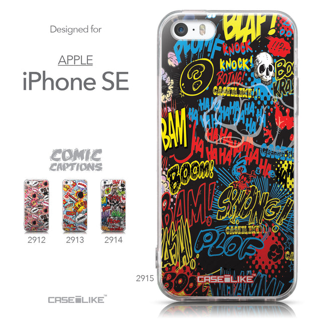 Collection - CASEiLIKE Apple iPhone SE back cover Comic Captions Black 2915