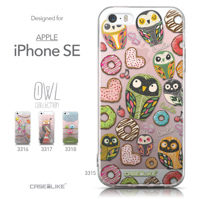 Collection - CASEiLIKE Apple iPhone SE back cover Owl Graphic Design 3315