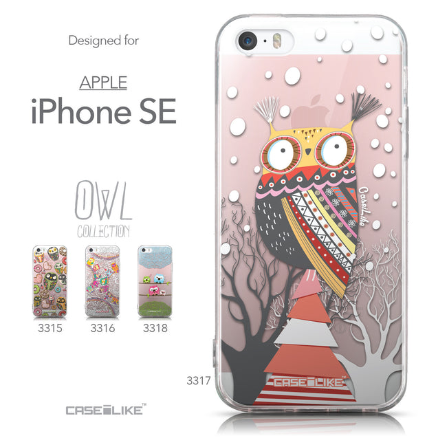 Collection - CASEiLIKE Apple iPhone SE back cover Owl Graphic Design 3317