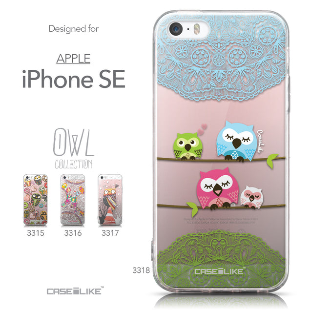 Collection - CASEiLIKE Apple iPhone SE back cover Owl Graphic Design 3318