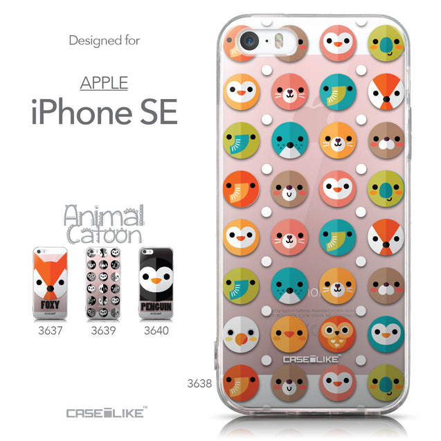 Collection - CASEiLIKE Apple iPhone SE back cover Animal Cartoon 3638