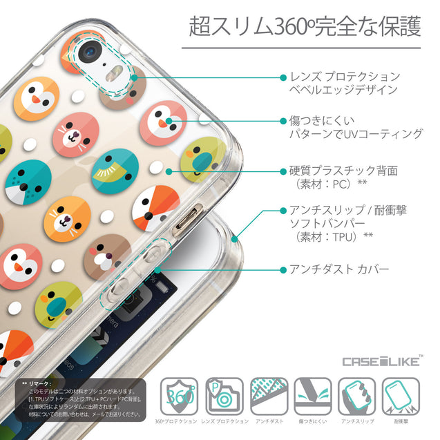 Details in Japanese - CASEiLIKE Apple iPhone SE back cover Animal Cartoon 3638