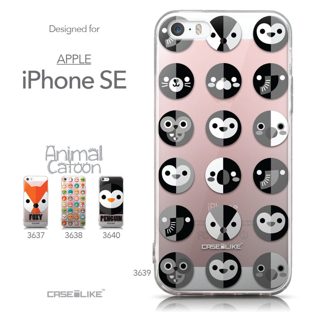 Collection - CASEiLIKE Apple iPhone SE back cover Animal Cartoon 3639