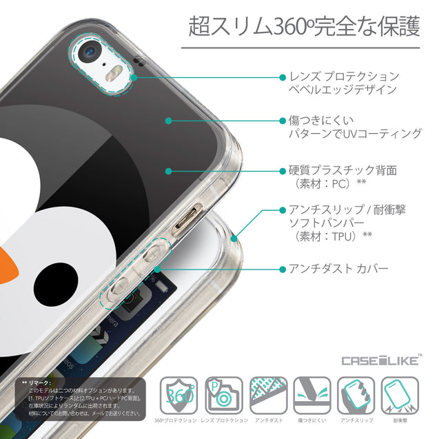 Details in Japanese - CASEiLIKE Apple iPhone SE back cover Animal Cartoon 3640