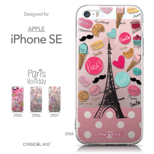 Collection - CASEiLIKE Apple iPhone SE back cover Paris Holiday 3904