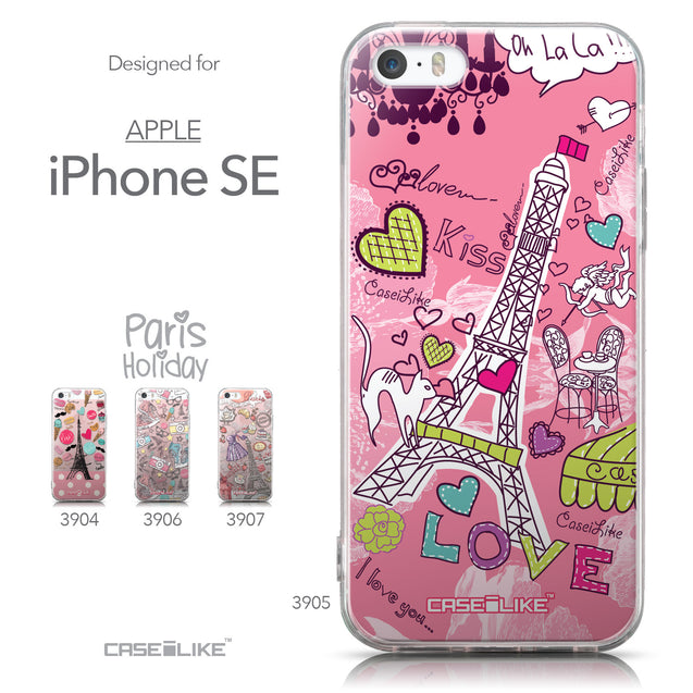 Collection - CASEiLIKE Apple iPhone SE back cover Paris Holiday 3905