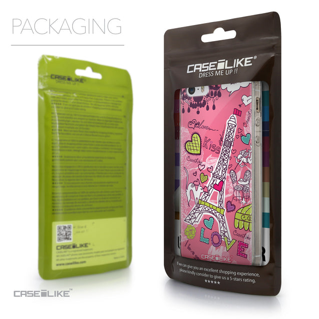 Packaging - CASEiLIKE Apple iPhone SE back cover Paris Holiday 3905