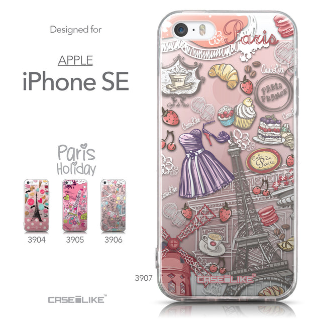 Collection - CASEiLIKE Apple iPhone SE back cover Paris Holiday 3907