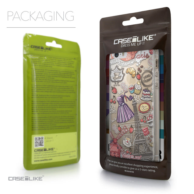 Packaging - CASEiLIKE Apple iPhone SE back cover Paris Holiday 3907