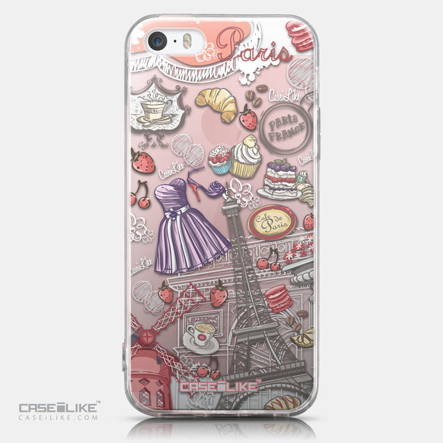 CASEiLIKE Apple iPhone SE back cover Paris Holiday 3907