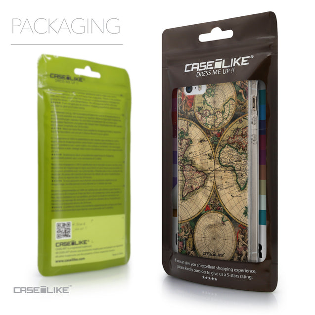 Packaging - CASEiLIKE Apple iPhone SE back cover World Map Vintage 4607