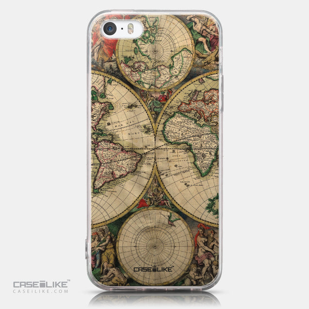 CASEiLIKE Apple iPhone SE back cover World Map Vintage 4607