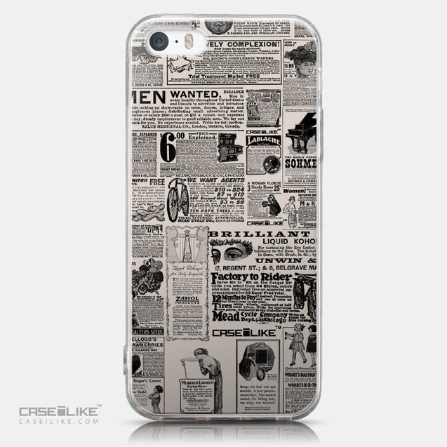 CASEiLIKE Apple iPhone SE back cover Vintage Newspaper Advertising 4818