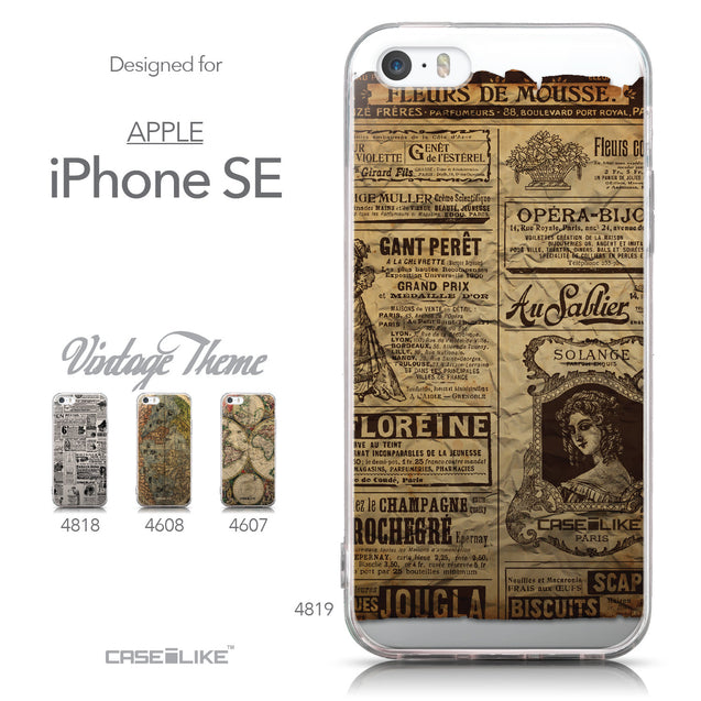 Collection - CASEiLIKE Apple iPhone SE back cover Vintage Newspaper Advertising 4819