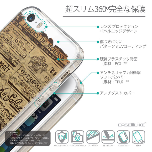 Details in Japanese - CASEiLIKE Apple iPhone SE back cover Vintage Newspaper Advertising 4819