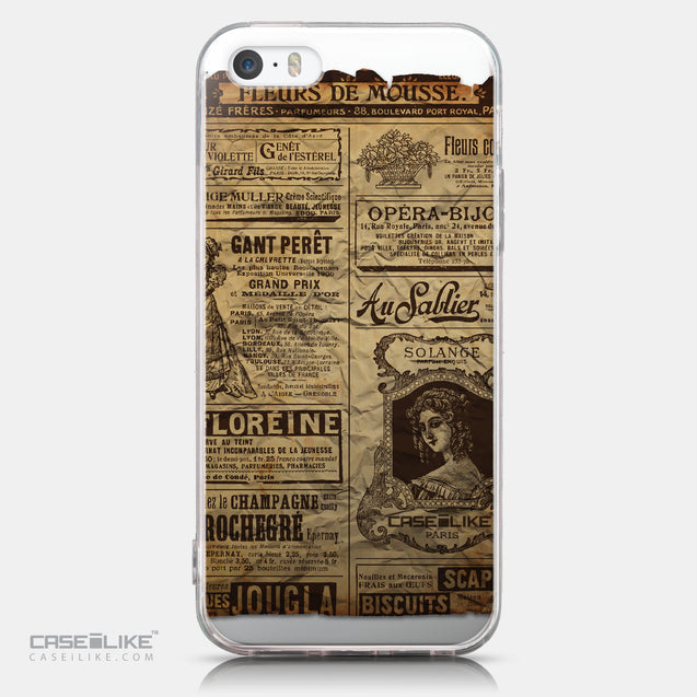 CASEiLIKE Apple iPhone SE back cover Vintage Newspaper Advertising 4819