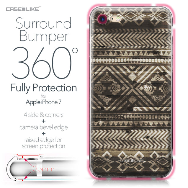 Apple iPhone 7 case Indian Tribal Theme Pattern 2050 Bumper Case Protection | CASEiLIKE.com