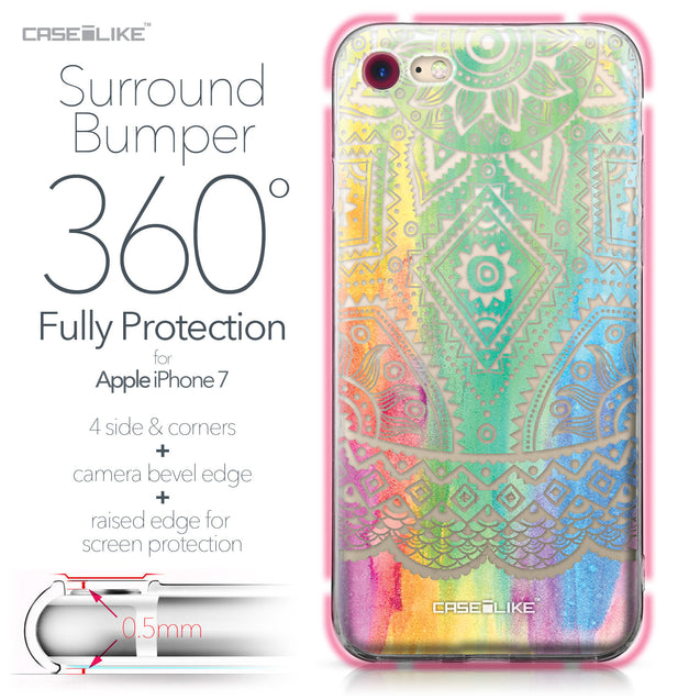 Apple iPhone 7 case Indian Line Art 2064 Bumper Case Protection | CASEiLIKE.com