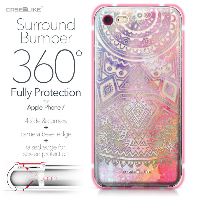 Apple iPhone 7 case Indian Line Art 2065 Bumper Case Protection | CASEiLIKE.com